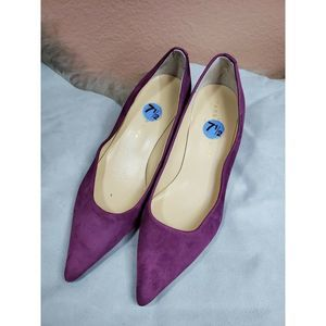 Ivanka Trump Suede Leather Heels Shoes Size 7.5
